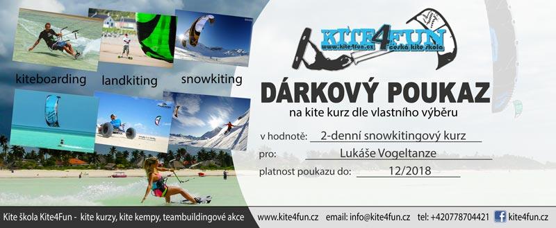 darkový poukaz Kite4fun