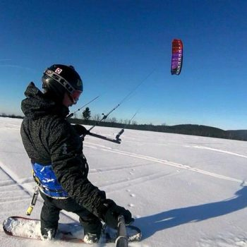 snowkiting kite škola kite4fun snowkiting kurz zima